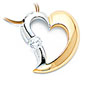 White & Yellow Gold Diamond Tension Set Pendant