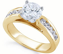 Diamond Engagement Rings Side Diamonds