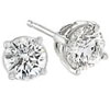 White Gold Brilliant Round Diamond Stud Earrings