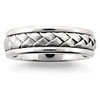 Platinum Mens Braided Band