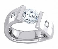 diamond tension rings