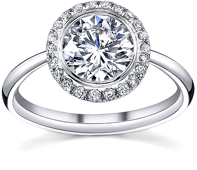 luseen french pave diamond engagement rings