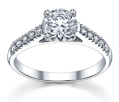 novo diamond sidestones ring stones side t ct solitaire engagement off rings w prong i cut round tw set thumbnail with