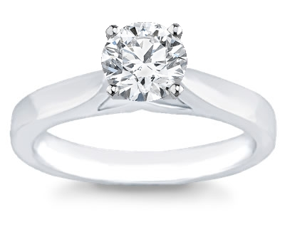 14K White Gold Solitaire Engagement Setting by Novori :  wedding rings diamond solitaire rings diamond rings engagement rings