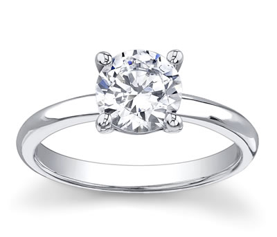 14K White Gold Diamond Engagement Setting by Novori :  wedding rings diamond solitaire rings diamond rings engagement rings
