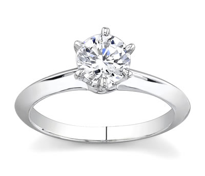 14K White Gold Knife Edge Solitaire (2.5 Mm Width) by Novori :  wedding rings diamond solitaire rings diamond rings engagement rings