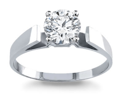 14K White Gold Cathedral Setting by Novori :  wedding rings diamond solitaire rings diamond rings engagement rings