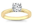 gold diamond solitaire rings