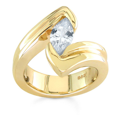 gold diamond tension rings
