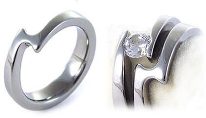 Matching Tension Set Rings by Novori