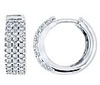 White Gold Diamond Pave Earrings