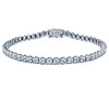 White Gold Semi Bezel Set Diamond Bracelet
