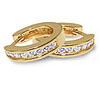 Yellow Gold Channel Set Diamond Earrings